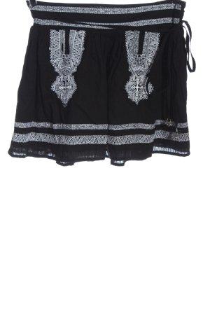 Romeo & Juliet Couture Minigonna nero-bianco motivo grafico stile casual