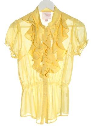 Romeo & Juliet Couture Ruffled Blouse primrose casual look