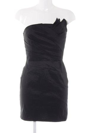 Romeo & Juliet Couture schulterfreies Kleid schwarz extravaganter Stil