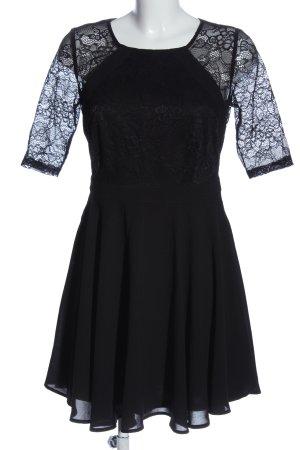 Romeo & Juliet Couture Spitzenkleid schwarz Blumenmuster Elegant