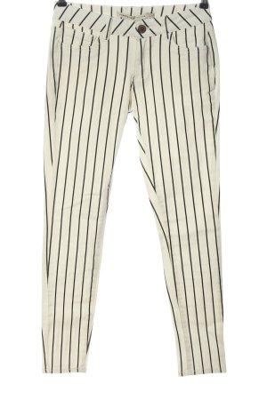 Romeo & Juliet Couture Pantalone elasticizzato bianco sporco-nero motivo a righe
