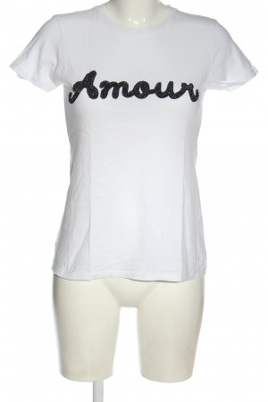 Romeo & Juliet Couture T-shirt bianco-nero caratteri stampati stile casual
