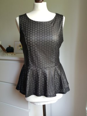 Romeo & Juliet Couture Peplum top taupe-zwart bruin