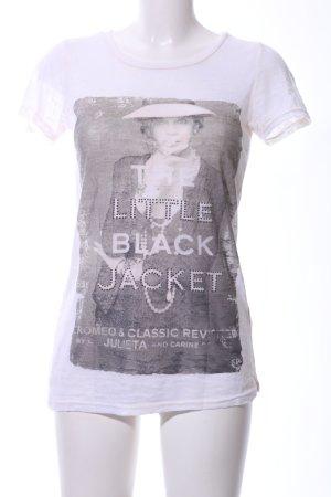 Romeo & Julieta Print-Shirt weiß Motivdruck Casual-Look