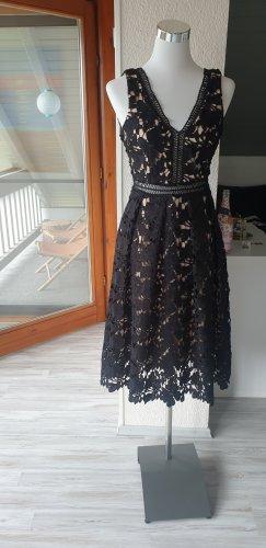 Romeo & Juliet Couture Abito midi nero-crema