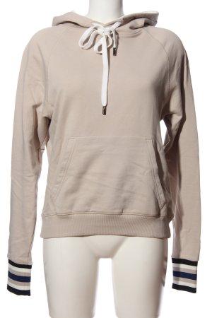 ROQA Kapuzensweatshirt creme Streifenmuster Casual-Look