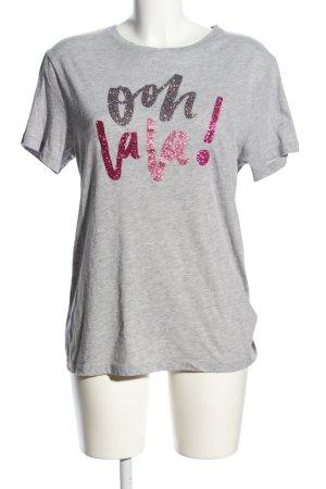 ROQA T-Shirt hellgrau meliert Casual-Look