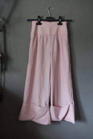 rosa, altrosa, gestreift, Streifen, Culotte, Hose mit Umschlag, XXXS