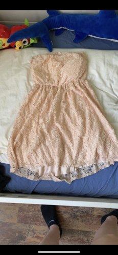 Rosa/Aprikot Minikleid