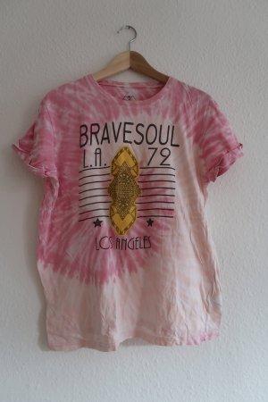Brave Soul Koszulka typu batik Wielokolorowy