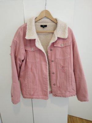 Rosa Baumwolle oversized Jacke Missguided