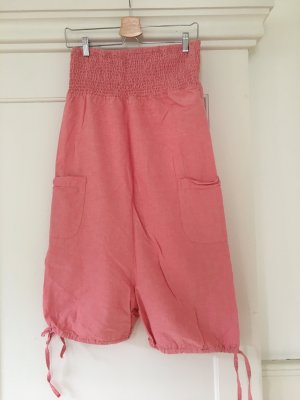 Only Pantalon large abricot coton