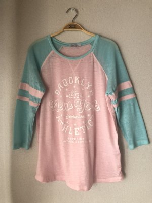 Rosa/blaues 3/4 Shirt