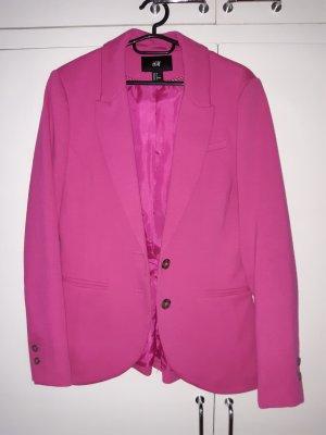 HM Blazer de tela de sudadera rosa