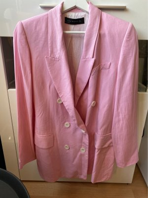 Zara Woman Marynarka typu boyfriend różowy-jasny różowy