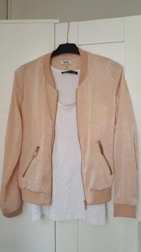 Rosa Blouson-Jacke aus glänzendem Stoff