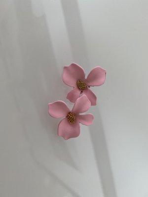 Rosa Blumen Ohrringe