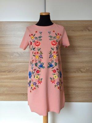 Rosa Blumen Shirtkleid von Zara, Gr. S