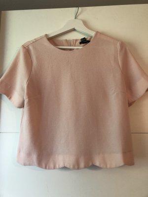 Forever 21 Short Sleeved Blouse rose-gold-coloured-light pink