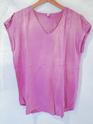 rosa Bluse geschnitten wie ein T-Shirt