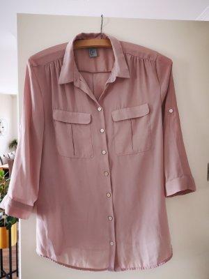H&M Long Blouse dusky pink