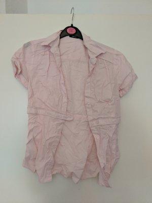 rosa Bluse mit Knöpfen