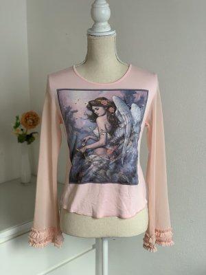 Rosa Bluse mit Print