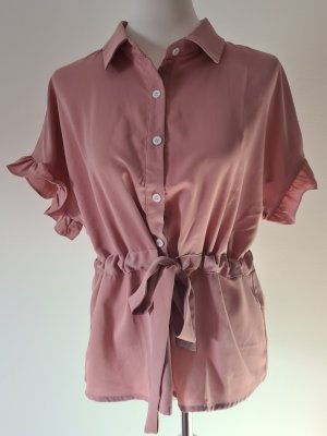 Ruffled Blouse rose-gold-coloured
