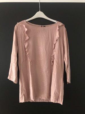 Flame Ruche blouse stoffig roze-rosé