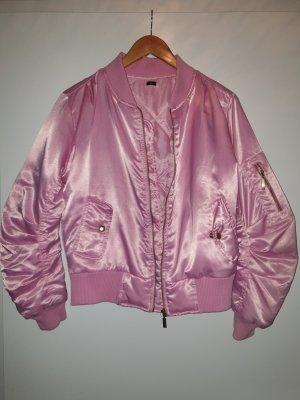 rosa Bomber-Jacke
