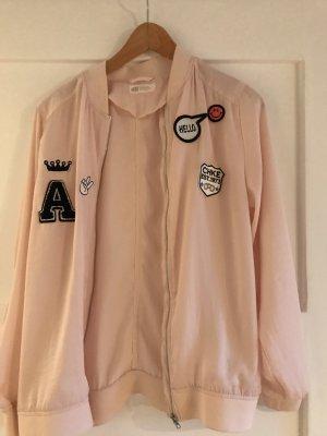 H&M Chaqueta estilo camisa color rosa dorado-rosa