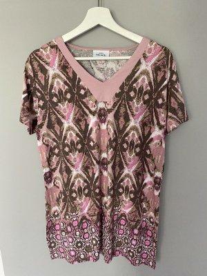 Rosa braunes Longshirt / Shirt von Gina Benotti, Gr. L (44/46)