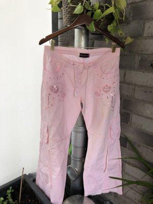 MIssy Pantalon cargo rose clair