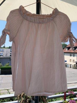 Carmen blouse lichtroze