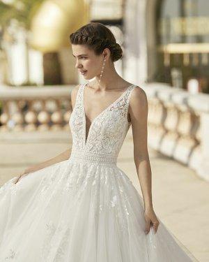 Rosa Clara Robe de mariée blanc tissu mixte