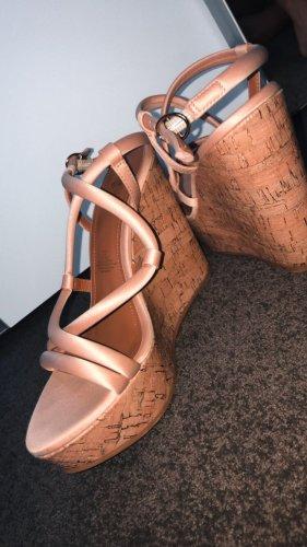 Rosa Cork wedge high heels