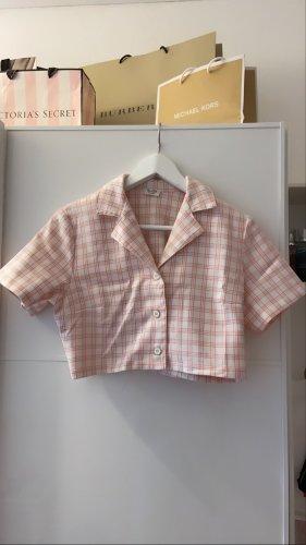 rosa crop hemd von brandy melville