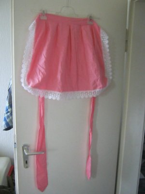 Traditional Apron pink-white