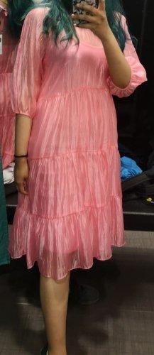 Rosa durchsichtiges Kleid mit Unterkleid