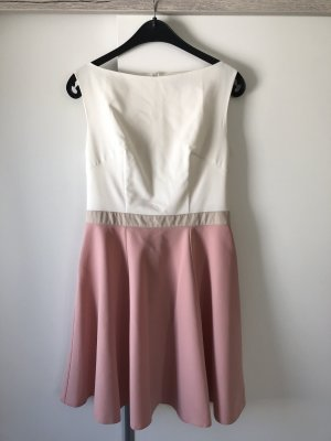 Rosa-/Elfenbeinfarbiges Kleid