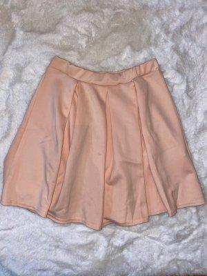 Boohoo Plaid Skirt pink-light pink