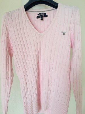 Gant Maglione con scollo a V rosa chiaro