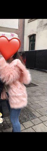 Futrzana kurtka jasny różowy