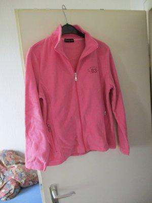 rosa Fleece-Jacke