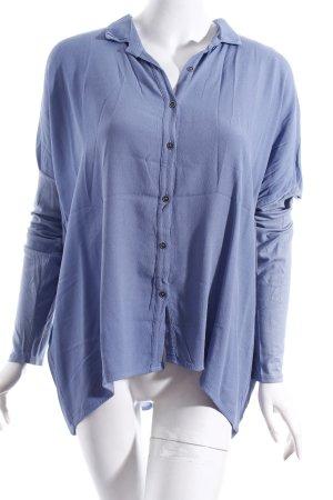 Rosa & Friends Langarm-Bluse himmelblau klassischer Stil