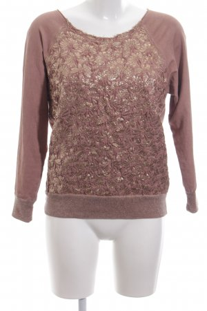 Rosa & Friends Rundhalspullover creme Blumenmuster Casual-Look