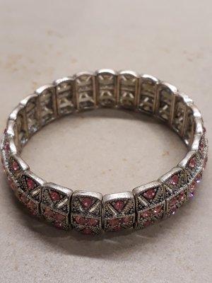 Rosa funkelndes Armband mit Swarowski®  Kristallen