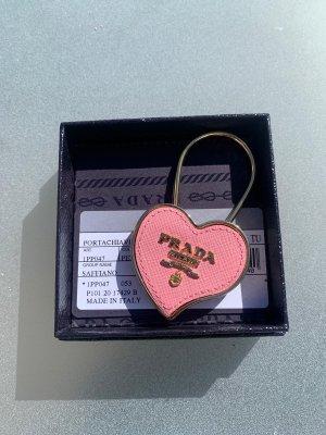 Rosa/Goldener Schlüsselanhänger von Prada