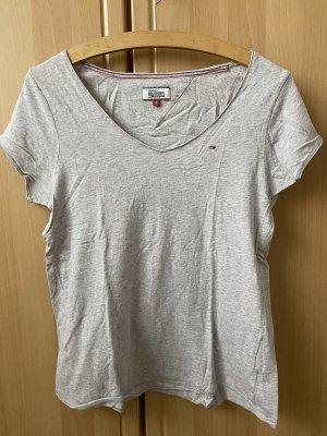 rosa/grau meliertes T-Shirt von Tommy Hilfiger