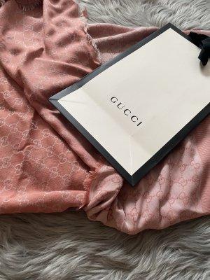 Gucci Jedwabny szal w kolorze różowego złota-różowy